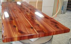 Aromatic Cedar Live Edge Community Table