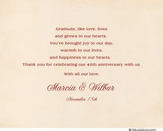 Wedding Thank You Wording | ... -tapestry-40th-wedding-anniversary-thank-you-card-folded-inside-verse