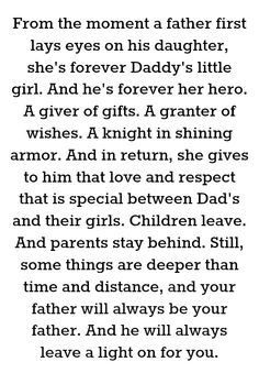 This is everything my daddy was to me. I didn't have him long enough and I miss him so much.