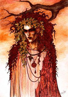 """Auberon in his Autumn Dress"" by Helena Maddiel Stepanova"