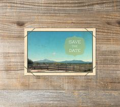 Printable Wedding Save the Date  Vintage Postcard by WillowandSass, $15.00