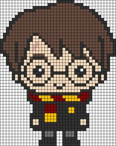 Pixel Art Harry Potter, Harry Potter Perler Beads, Harry Potter Cross Stitch Pattern, Harry Potter Crochet, Harry Potter Quilt, Pixel Pattern, Pattern Art, Hand Embroidery Art, Cross Stitch Embroidery