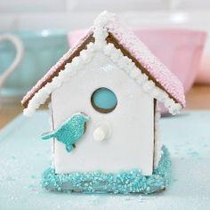 Christmas DIY: Recipe and photo tut Recipe and photo tutorial on making a Mini gluten free gingerbread bird house #christmasdiy #christmas #diy