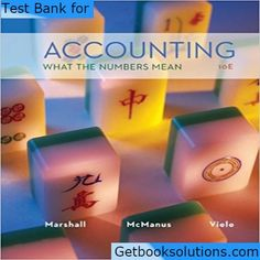 Solution manual for cost and management accounting 7th edition by test bank for accounting what the numbers mean 10th edition by marshall fandeluxe Images