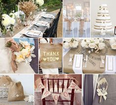 burlap and more burlap