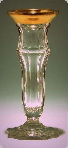 Art Deco Kristallvase Böhmen um 1925