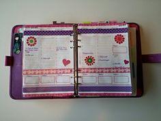 Decoration week 14 in my A5 Saffiano Raspberry Filofax.