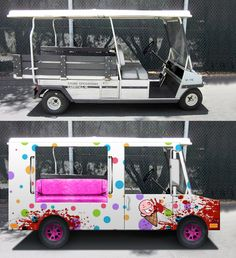 Ice Cream Truck golf cart decoration (but without the bad part)
