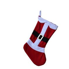 SANTA'S CHRISTMAS STOCKING WITH BELT & BUCKLE