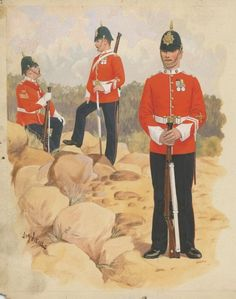 Duke of Cornwall's Light Infantry, by J. Army Uniform, British Colonial, British Army, Military Art, Egyptian, 19th Century, Empire, Cornwall, Soldiers