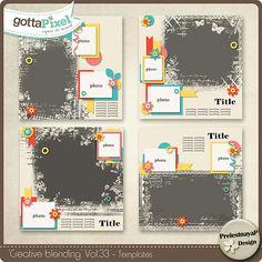 Creative blending Templates Vol.33 :: Templates :: Packs :: Gotta Pixel Digital Scrapbook Store by PrelestnayaP Designs