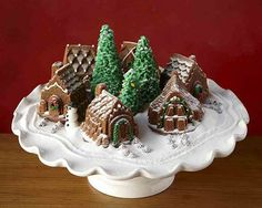 Gingerbread cakelets from Snowy Village Cakelet Pan (Williams-Sonoma)
