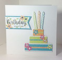Card made by Julie Hickey, using the Celebrations kit and stamp set from Craftwork Cards Craft Projects, Projects To Try, Craftwork Cards, Greeting Cards Handmade, Birthday Cakes, Cardmaking, Celebrations, Cool Art, Card Ideas