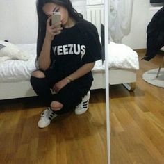 Yeezus shirt Made to order yeezus shirt. Also available in white with black print Tops Tees - Short Sleeve