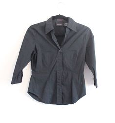 New York & Company - Women's - Stretch - Button Down - Shirt - Size XS #NewYorkCompany #ButtonDownShirt