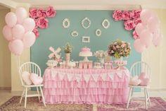 decoracao-cha-de-bebe-39 Girls Party Decorations, Girl Baby Shower Decorations, Baby Decor, Baby Shower Themes, Ballerina Birthday, Baby Birthday, Birthday Parties, Fiesta Baby Shower, Baby Shower Parties