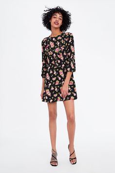 1f614176f99 Image 1 of RUFFLED FLORAL PRINT DRESS from Zara Floral Prints