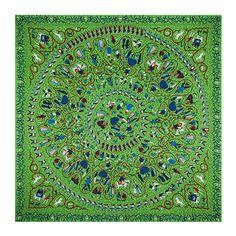 [LESIDA] Heavy Silk Twill Winter Scarves For Women 130 Cm Beach Pashmina Paisley Villain Pattern Foulard Bandanas Sjaal  13041