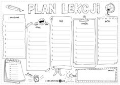 Wariant 10 - Make the best playdough with just a few ingredients from the kitchen! plan lekcji - Słodkości Plan lekcji- do kolorowania Timetable Planner, School Timetable, School Plan, Back To School, Child Plan, Play Dough, Aesthetic Wallpapers, Tatoos, Living Spaces