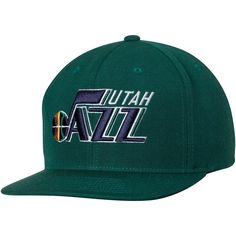 Sports Shop has Men s Mitchell   Ness Green Utah Jazz Current Logo Wool  Solid Adjustable Snapback Hat plus easy flat rate shipping! NBA Caps   Hats e0cb33d99bc4