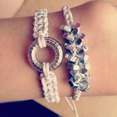 DIY Bracelet Ideas. I wanna try this soon.