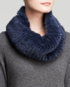 Maximilian Knitted Mink Infinity Scarf | Bloomingdales's