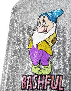 Sweatshirt Silver Bashful | Mary Katrantzou x Disney x Colette Mary Katrantzou, Fallout Vault, Snoopy, Sweatshirts, Boys, Disney, Fictional Characters, Art, Silver
