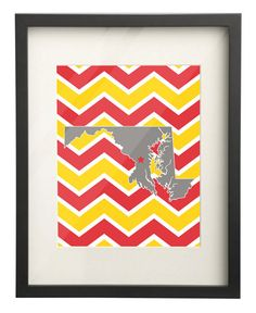 University of Maryland UM State Map 8x10 by PaperFrecklesCampus