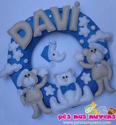 Guirlanda de Ursos - Davi Ursinhos fofos, dorminhocos para o Davi! Confira mais...