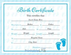 Birth Certificate Online, Certificate Format, Birth Certificate Template, Certificates Online, Certificate Design, Renewing Your Passport, Types Of Planning, Id Card Template, Word Free