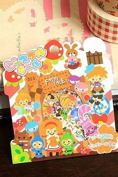 Japanese Kawaii Sticker Seal Flakes - Fairy Tale