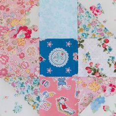 Happy Flower Quilt-Along Block 15 by arabesque scissors
