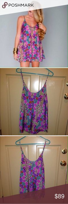 💥30% off bundles💥SMYM Amy Sue Ruffle Dress Size small and preowned. Show Me Your Mumu brand Amy Sue Ruffle mini dress in the wildblooms print. Show Me Your MuMu Dresses Mini