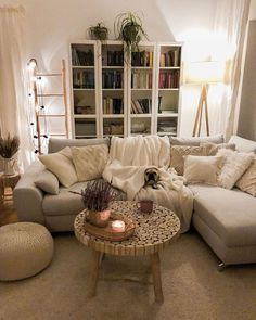 Winter Living Room, Living Room Decor Cozy, Boho Living Room, Small Living Rooms, Living Room Grey, Living Room Designs, Cozy Living Room Warm, Living Room Modern, Living Room Scandinavian