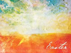 EASTER CANVAS ... Possible 4 kiddos handprint sunrise...?