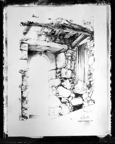 A section of the Preveli Monastery on Crete. <carnegie@mweb.co.za> Old Buildings, Crete, Illustrations, Doors, Architecture, Antiques, Arquitetura, Antiquities, Antique