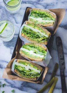 The 28 Best Vegetarian Sandwich Recipes on the Block , Vegetarian Sandwich Recipes Green Goddess Sandwich / Vegan Sandwich / Healthy Sandwich. Best Vegetarian Sandwiches, Sandwich Vegan, Healthy Sandwich Recipes, Healthy Sweet Snacks, Healthy Sandwiches, Sandwiches For Lunch, Delicious Sandwiches, Lunch Recipes, Vegetarian Recipes