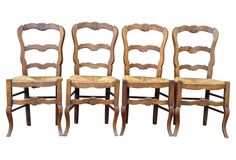 Carved French Country Chairs, Set of 4 | Vintage Style | One Kings Lane