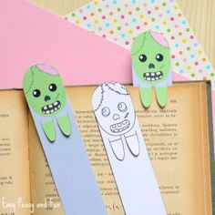 Printable Zombie Bookmarks – Halloween Printable for Kids