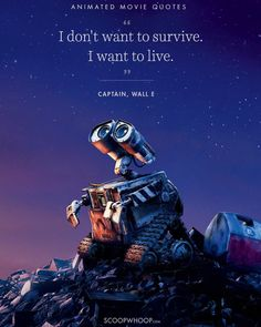 I love Wall E so much. It just shows that you don't need I say 'I love you' when you can be silent and just show it 💖 . Who else loves Wall-E?