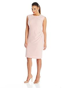 Adrianna Papell Women's Plus-Size Sleeveless Sheath Dress From The Plus Size Fashion Community At www.VintageAndCurvy.com