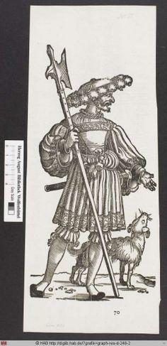 Ein Landsknecht mit einem Hund.    PURL http://diglib.hab.de/?grafik=graph-res-d-248-2