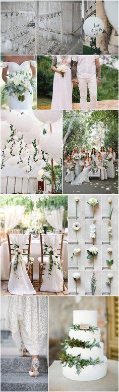 Boho Pins: Top 10 Pins of the Week – White Weddings
