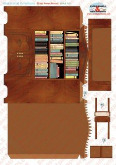 Paper Doll House, Paper Houses, Miniature Furniture, Dollhouse Furniture, Diy Dollhouse, Dollhouse Miniatures, Diy Paper, Paper Crafts, Paper Dolls Clothing