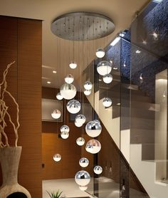 lighting for stairwells long drop galleried vaulted ceilings