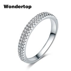 Wostu Argent Sterling 925 FULL PAVE Heart Charms avec AAA Zircone Cubique Fit Charm Bracelet
