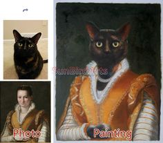 Custom original oil portraitPet oil portrait by SunBirdArts