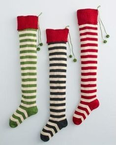 Striped Holiday Stockings