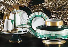 """Art Déco para a sua casa, coleção """"Emerald"""",Vista Alegre Atlantis"""