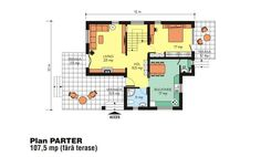 case-frumoase-beautiful-house-plans-10 Beautiful House Plans, Beautiful Homes, Tree Bedroom, Small House Design, Floor Plans, How To Plan, Houses, Two Story Houses, Home Plans